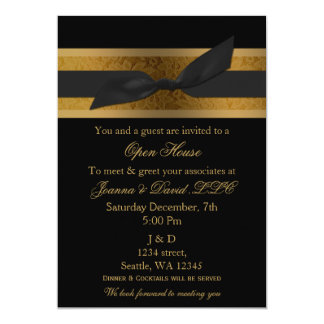 Elegant Gold Black  Corporate party Invitation