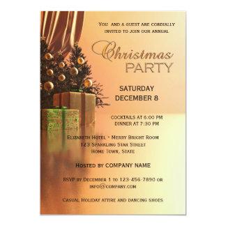 Elegant Gold Corporate Christmas Party Invitation