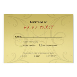 Elegant Gold Corporate party Invitation RSVP