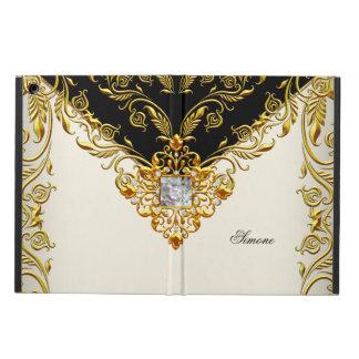 Elegant Gold Elite Elegant Gold Cream Black iPad Air Case