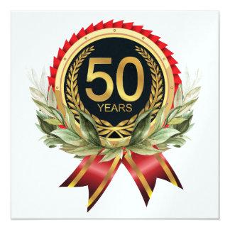 Elegant Gold Fifty Invitation