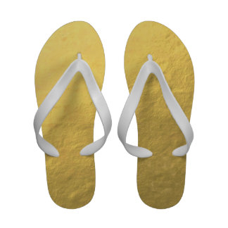 Elegant Gold Foil Printed Flip Flops