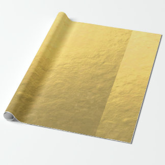 Elegant Gold Foil Printed Wrapping Paper