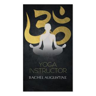 Elegant Gold Foil Yoga Meditation Pose Om Symbol Pack Of Standard Business Cards