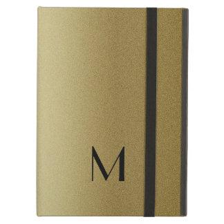 Elegant Gold Monogram Initial iPad Air Case