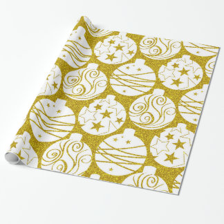 Elegant gold ornaments wrapping paper