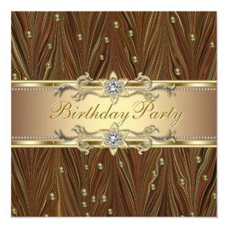 Elegant Gold Pearls Birthday Party Invitation