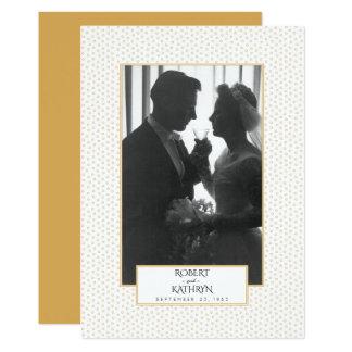 Elegant Gold Photo 50th Wedding Anniversary Party 13 Cm X 18 Cm Invitation Card