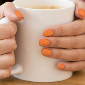 Elegant Gold Quilted Mango Orange Minx ® Nail Art