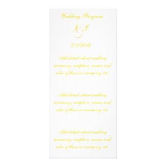 Elegant Gold Script Wedding Programs Customized Rack Card