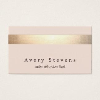 Elegant Gold Striped (no shine) Modern  Light Pink