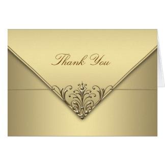 Elegant Gold Thank You Cards