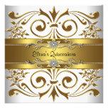 Elegant Gold White Quinceanera