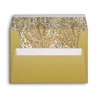 Elegant Gold with Faux Sequins