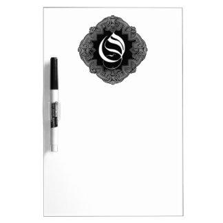 Elegant Goth Initial O Dry Erase Board