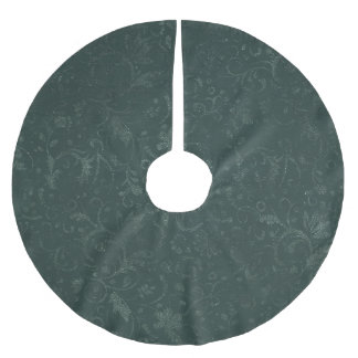Elegant Green Brushed Polyester Tree Skirt