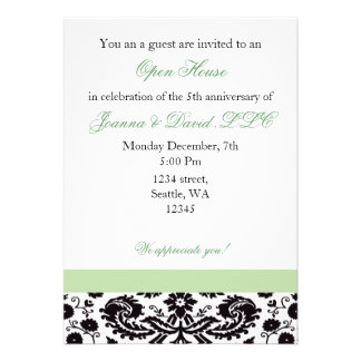 Elegant green Corporate party Invitation