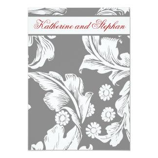elegant grey and white wedding anniversary card