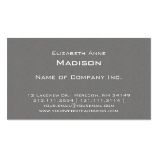 Elegant Grey Textured Monogram Centred Classic Pack Of Standard Business Cards