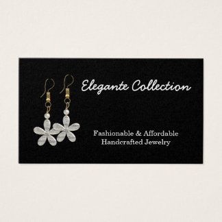 elegant handcrafted Jewelry maker Business Cards
