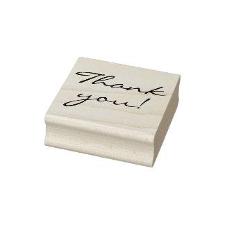 Elegant Handwriting Thank You Rubber Stamp
