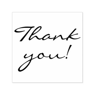 Elegant Handwriting Thank You Self-inking Stamp