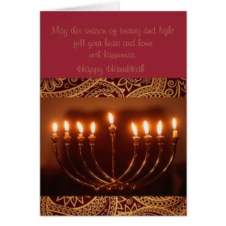 elegant Hanukkah greeting card