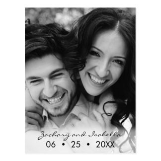 Elegant Happy Couple Save the Date Postcard