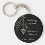 Elegant Heart Golden Wedding Anniversary