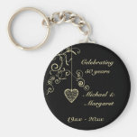 Elegant Heart Golden Wedding Anniversary Memento