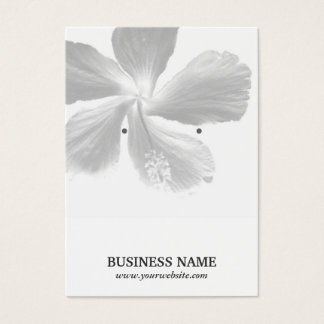 Elegant Hibiscus Flower Earring Holder Business Card