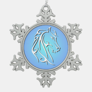 Elegant Horse Head Ornament