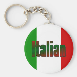 Elegant italian basic round button key ring
