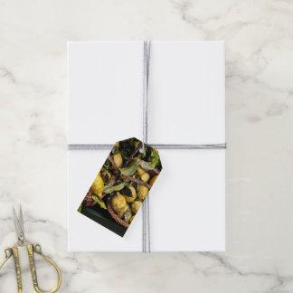 Elegant Italian Lemons in a Basket Gift Tags