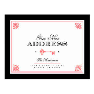 Elegant Key Moving Announcement Postcard