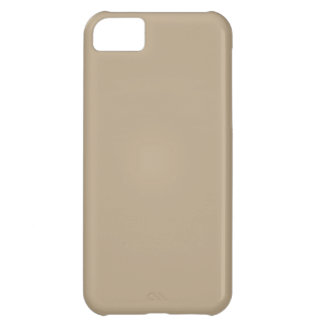 Elegant Khaki Coffee Brown - Fashion Color Trend Cover For iPhone 5C