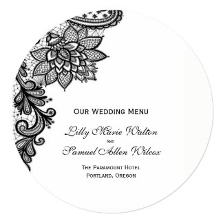 Elegant Lace Menu Card