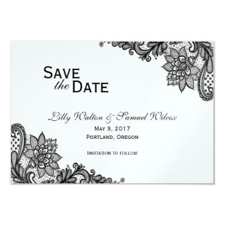 Elegant Lace Save the Date Card