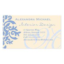 Elegant Lady Designer's Blue and Cream
