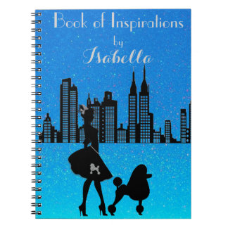 Elegant Lady loves the City Life Photo Notebook