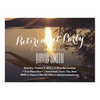 Elegant Lake Sunset Retirement Party 13 Cm X 18 Cm Invitation Card