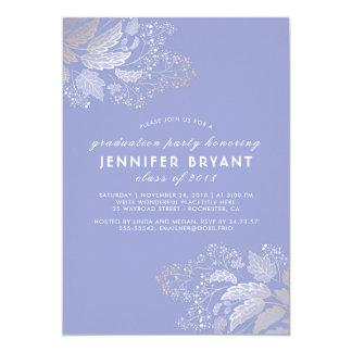 Elegant Lavender Color and Gold Foliage Graduation Card