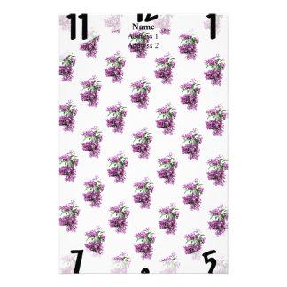 Elegant Lilacs Stationery