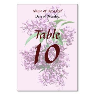 Elegant Lilacs Table Cards
