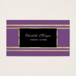 Elegant Luxury  ,Faux Gold Glittery Stripes Business Card