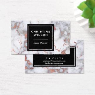 elegant marble event planner business card
