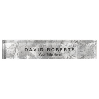 Elegant Marble Stone Texture Professional Name Plate