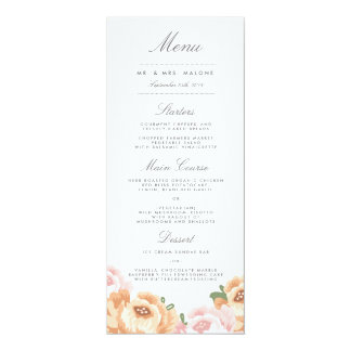 Elegant Mason Jar Wedding Menu Card