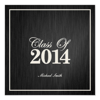 Elegant Metallic Gold Class of 2014 Graduation 13 Cm X 13 Cm Square Invitation Card