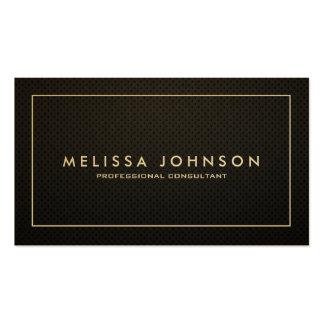 Elegant & Modern Black and Gold Professional Pack Of Standard Business Cards